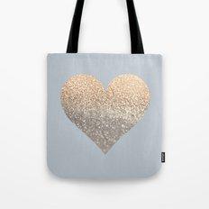 GATSBY GOLD HEART GREY II November Skies Tote Bag