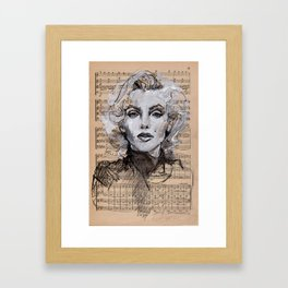 Monroe Music Sheet Framed Art Print