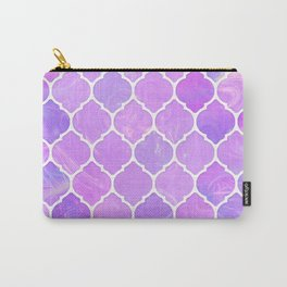 Pink and purple glass Moroccan print Carry-All Pouch