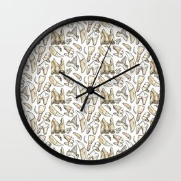 Traces - Teeth - White Wall Clock