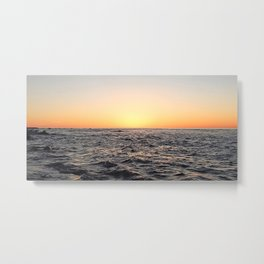 After the Sun has Set on the Sea Metal Print