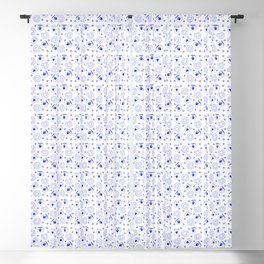 Blue Coffee and Donut Pattern Blackout Curtain