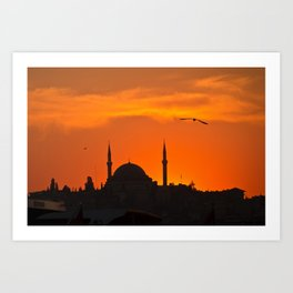 Istanbul Mosque Art Print