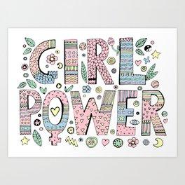 GIRL---POWER Art Print