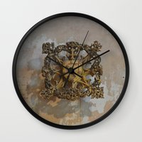 medieval Wall Clocks featuring Medieval Flair by Imaginibus