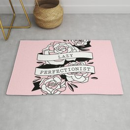 lazy perfectionist Rug