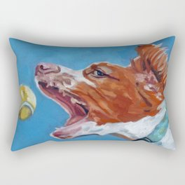 Brittany Spaniel Dog Portrait Rectangular Pillow