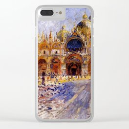 The Piazza San Marco Venice Auguste Renoir Clear iPhone Case