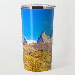 Snowy Andes Mountains, El Chalten, Argentina Travel Mug