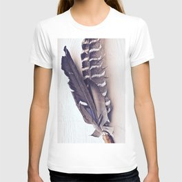 Sacred Smudging, Feather Fan T-shirt