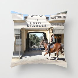 Cobb & Co Stables Throw Pillow