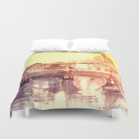rome Duvet Covers featuring Rome by takmaj