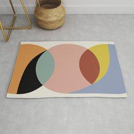 Geometric Harmony - Vintage Rainbow Colors Rug