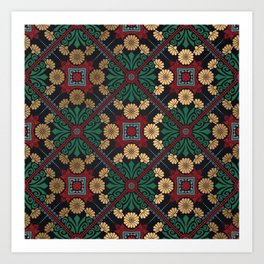 Decorative Indian Mandala Pattern Art Print