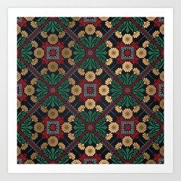 Decorative Indian Mandala Pattern Art Print