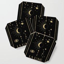 The Moon or La Lune Gold Edition Coaster