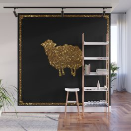 Golden sheep you are special  Wall Mural
