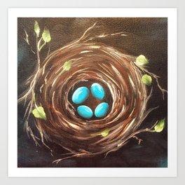 Four Turquoise Eggs Art Print