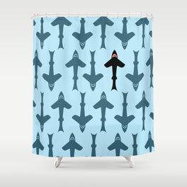 Shark Kite Shower Curtain