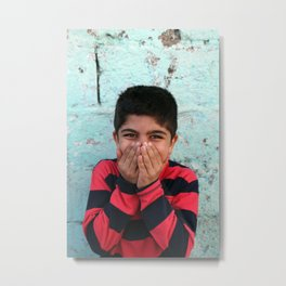Young Kurdish boy in Van, Tirkey Metal Print