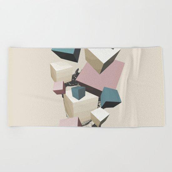 Queen of Cubes Beach Towel