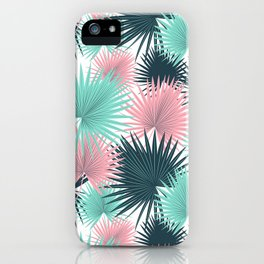 Pastel Palm Leaves iPhone Case