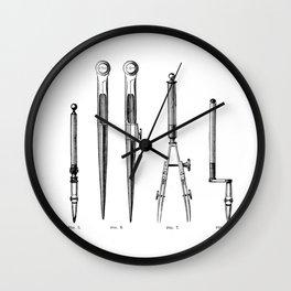 Drawing tools Wall Clock