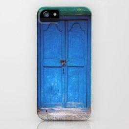 Blue Indian Door iPhone Case
