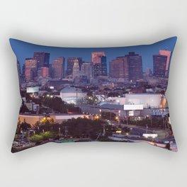 Blue hour in Boston Rectangular Pillow
