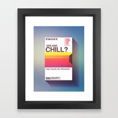 VHS and Chill Framed Art Print
