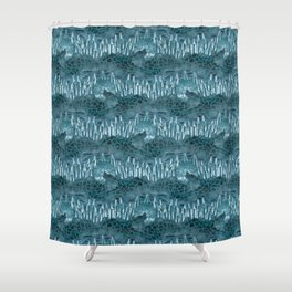 Moonlight Story (Teal) Shower Curtain