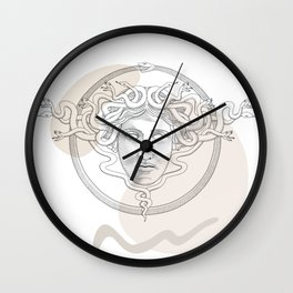 medusa / Classical Greek minimal Wall Clock