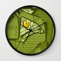 hustle Wall Clocks featuring HUSTLE by clogtwo