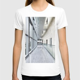 Llamas peer at a passerby from their copse on a farm near Plato in LaGrange County Indiana T-shirt