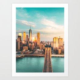 New York from Brooklyn Art Print