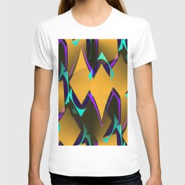 geometric gradient psychedelic T-shirt
