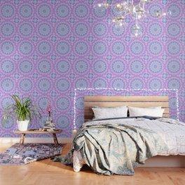 Beautiful Rose Blue Pastel Flower Mandala Wallpaper