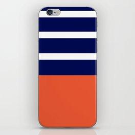Summer Patio Perfect, Adobe Orange, White & Navy iPhone Skin
