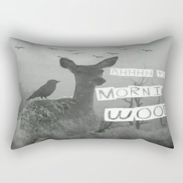 Ahhh Yes Morning Wood Rectangular Pillow