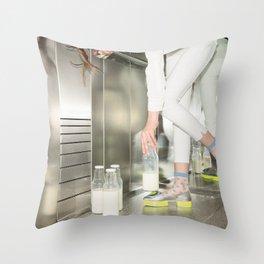 Spilled Milk Throw Pillow