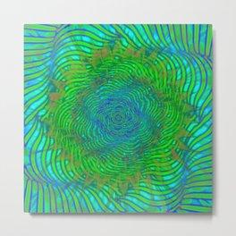 Hypnotica #2 Warping Optical Illusion Metal Print
