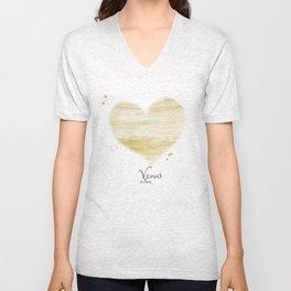 Venus in love Unisex V-Neck
