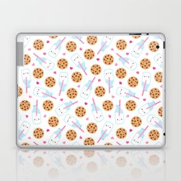 Happy Milk and Cookies Pattern Laptop & iPad Skin
