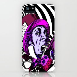 The Hatter with Alice iPhone Case