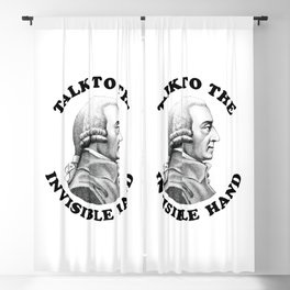 Adam Smith - Talk To The Invisible Hand - Funny Economics Teacher Blackout Curtain