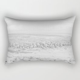 Black and White Sea and Rocks | Fine art landscape photography Rectangular Pillow