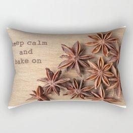 Keep Calm and Bake On Rectangular Pillow