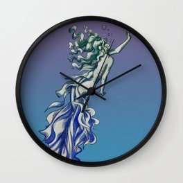 Inviting Mermaid Wall Clock