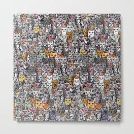 Gemstone Cats - Gold Metal Print