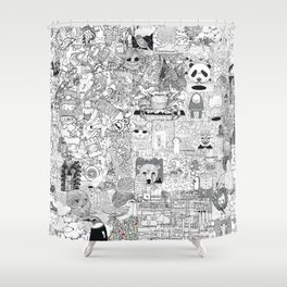 mashup Shower Curtain